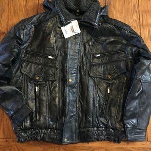 NWT Black Leather Jacket